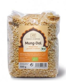 Mung-Dal, Mungbohnen gelb, Bio, 500 g