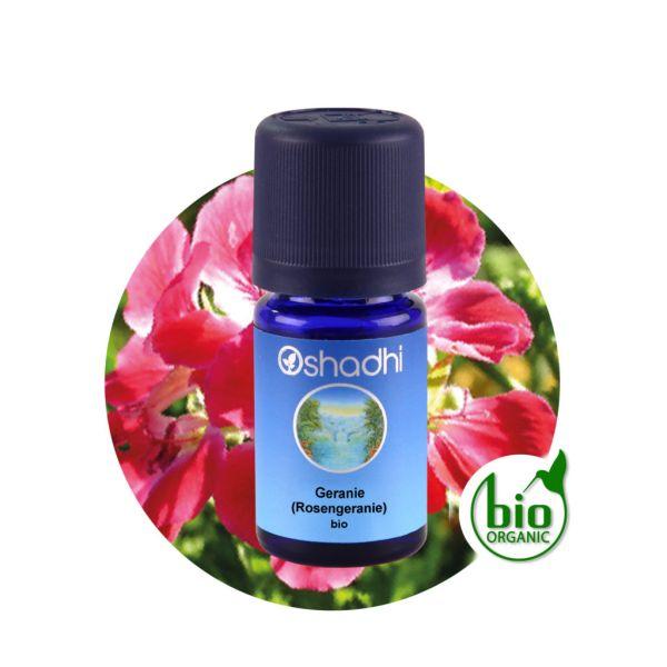 Aromaöl Geranie (Rosengeranie), Bio, 5 ml