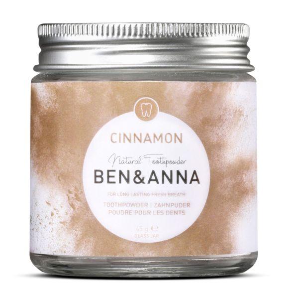 Zahnpuder Ben&Anna, Cinnamon für frischen Atem, vegan, 45 g