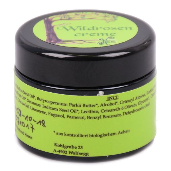 Wildrosencreme, vegan, 30 ml