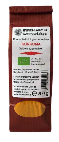 Kurkumawurzel gemahlen, Bio, 200 g