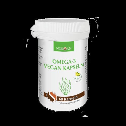 Omega-3 Vegan Kapseln Norsan, 60 Kps., 80 g