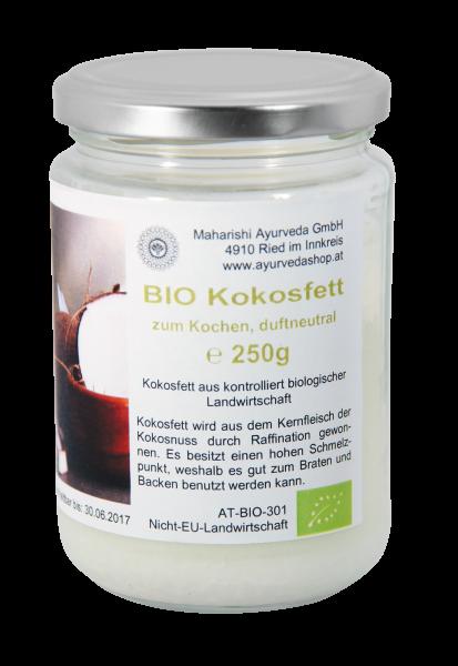Kokosfett zum Kochen duftneutral im Glas, Bio, 250 g