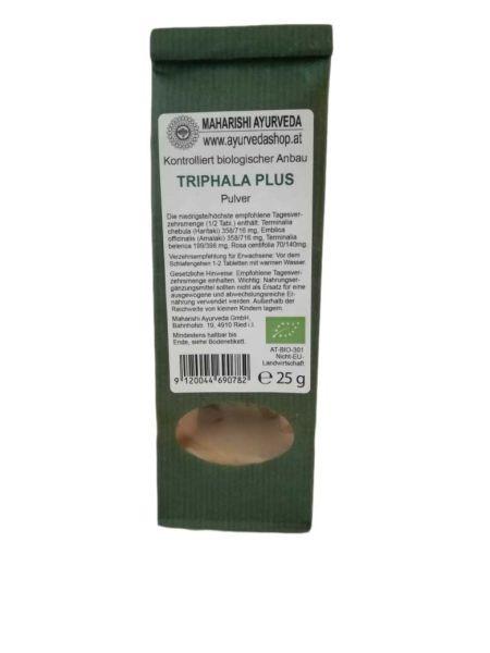 Triphala Plus Pulver, Bio, 25 g