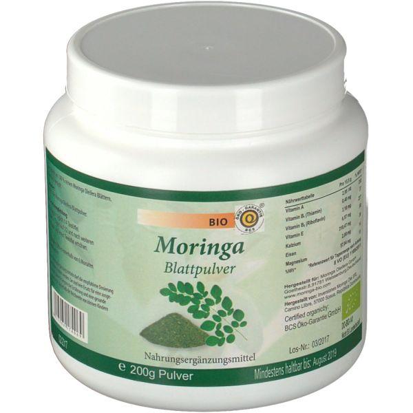 Moringa Oleifera Blattpulver, Bio, 200 g