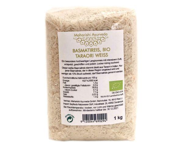 Basmatireis Taraori weiß, Bio, 1 kg